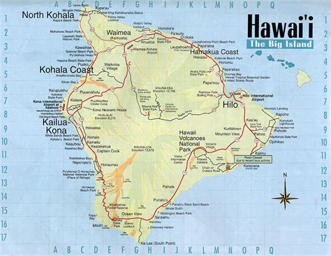 map of hawaii hawaii volcanoes