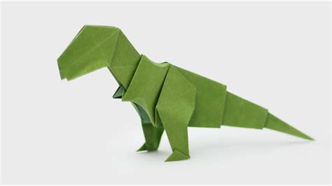 How To Make A Dinosaur Model From Paper Mache - origami t rex jo nakashima dinosaur 5