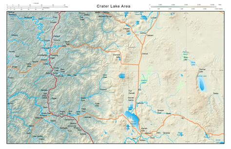 map of s w oregon tapering adds realism to your map arcgis