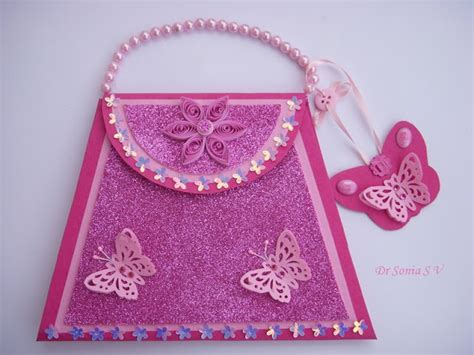 Paper Purse Craft - paper crafts for gifts mini book photo tutorial crafts
