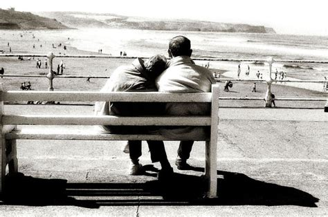 old couple on bench old couple sat on bench by haywoodflux on deviantart