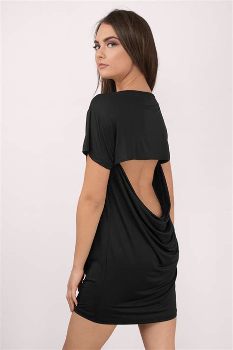 trendy black day dress black dress cut out dress 10 00