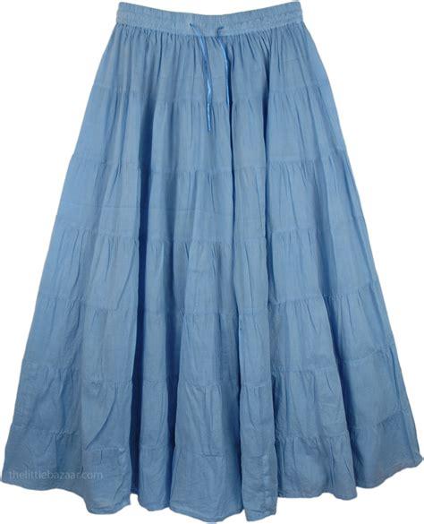 light blue long skirt long skirt in light blue clearance sale on bags