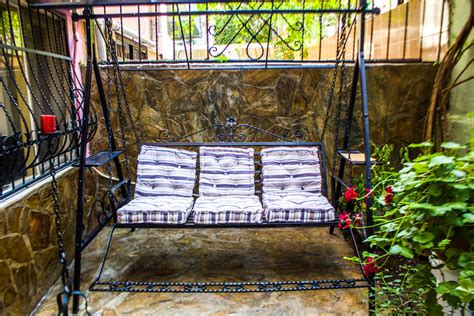balcony swing garden swings the enchanting element in your backyard