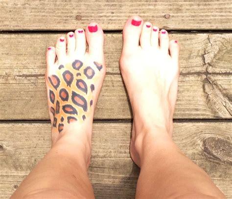 tattoo animal print foot my leopard print foot tattoo tattoos pinterest foot