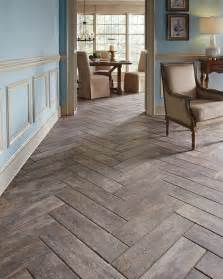 wood plank tiles herringbone pattern beach house