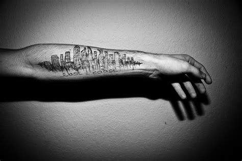 pittsburgh skyline tattoo arm skyline ink sleeve skyline
