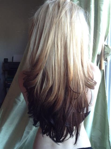 hair colourest of the year 2015 reverse blonde ombre hair