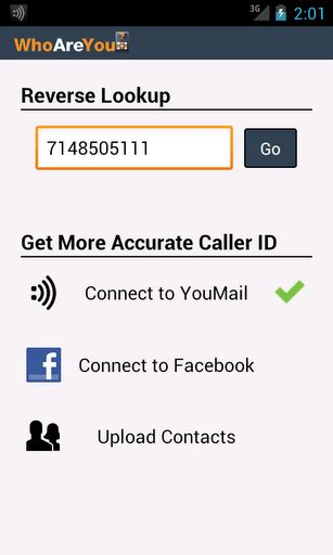 Sms Lookup Reverve Phone Number Lookup On Android With Caller Id