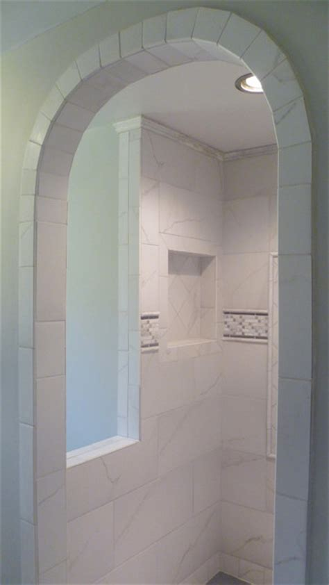 Arched Shower Door Arched Door Shower Contemporary Bathroom Indianapolis By Inspired Remodeling Tile By
