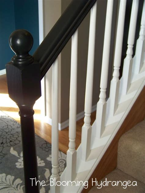 Black Banister White Spindles by Black Banister Home Stair Stuff