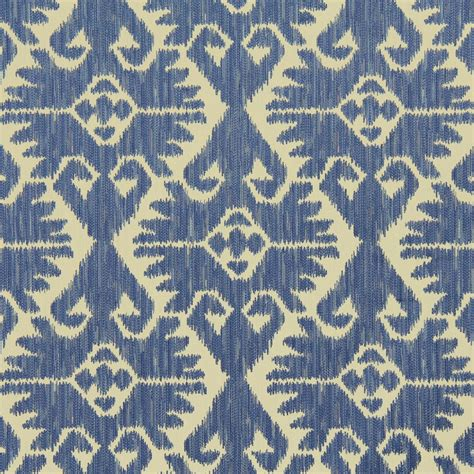 on sale blue ikat upholstery fabric by the yard