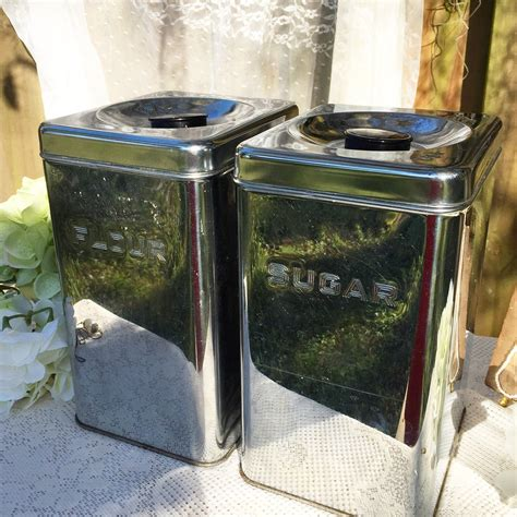 silver kitchen canisters mid century modern tin canister set silver kitchen tea
