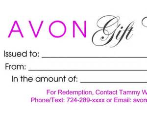 avon gift certificates templates free avon leadership bulletin board flyer colorful by