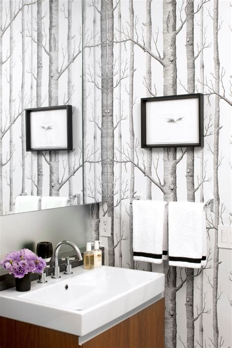 Trellis Lowes Peel And Stick Wallpaper Bathroom Contemporary With Bridge
