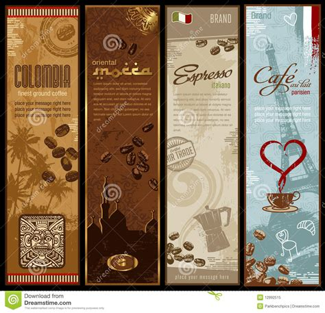 Banner Cafe Design Vector | coffee banners stock vector image of barista fair diner