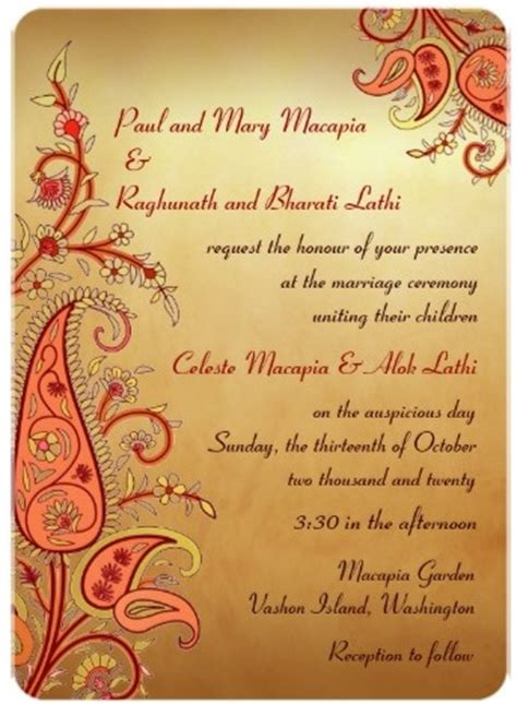 hindu wedding invitation free hindu indian wedding invitations eastern fusion designs