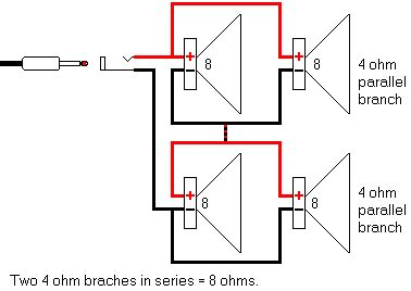 three 8 ohm resistors are connected in series what is their equivalent resistance wiring diagram 4 ohm speakers in series wiring get free image about wiring diagram