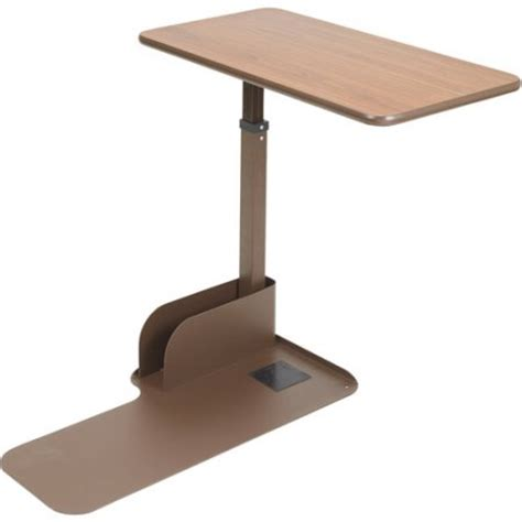 side table with swing out desk drive medical seat lift chair overbed table left side