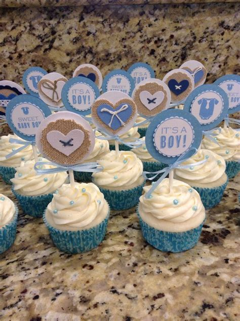Cupcakes For A Baby Boy Shower by Best 25 Baby Boy Cupcakes Shower Ideas On