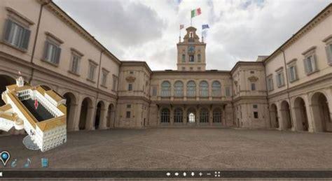 sede presidente della repubblica quirinale on line il tour virtuale della residenza