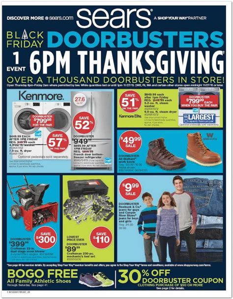 sears black friday ad for 2015 shopportunist
