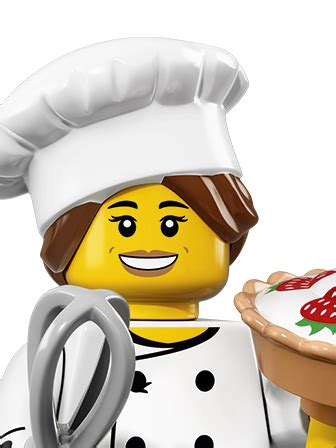 Lego Minifigures Series 17 Gourmet Chef Minifigure Seri 3 Pastry Pi series 17 gourmet chef lego minifigures lego legos and marvel