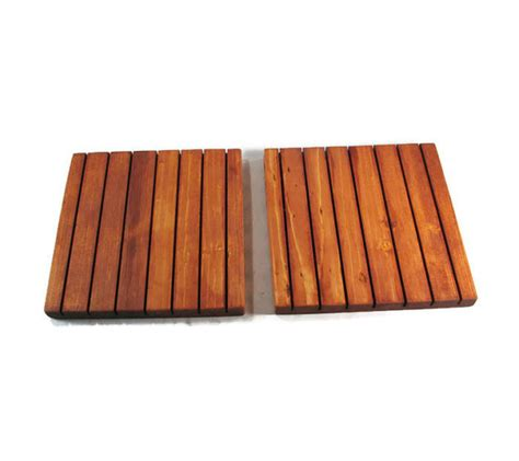 Kitchen Trivets by Wood Trivets Set Of Two Rustic Kitchen Decor 14 Color