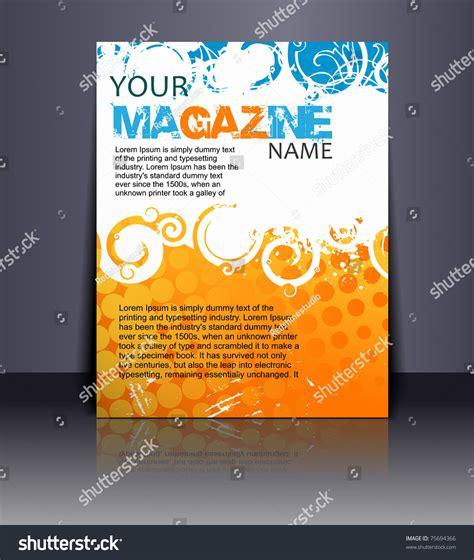design magazine vector magazine layout design template vector illustration