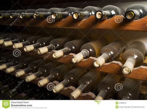 Opened Bottle Of Wine Shelf by Wine Bottles On Shelf Stock Photo Image Of Vine