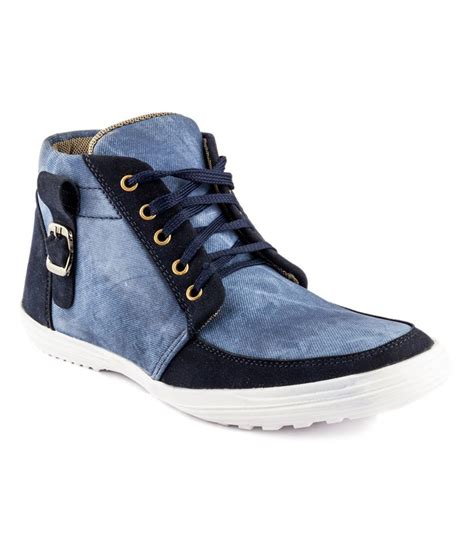 gs blue synthetic leather stylish casual shoes price in