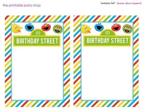 Elmo Birthday Birthday Card Templates Blank by Invitation Stripes Blank Characters Sesamestreet Kid S