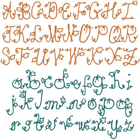 printable curly fonts curly pumpkin font by embroidery patterns home format