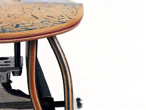 Skateboard Stool by Recycled Skateboard Stools Transform Thrashed Boards To