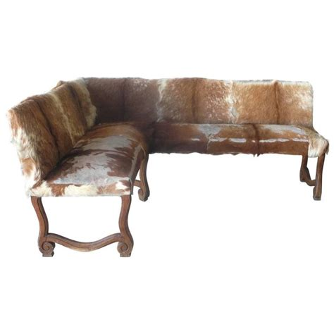 angled bench antique late 19th century french cowhide angled bench for