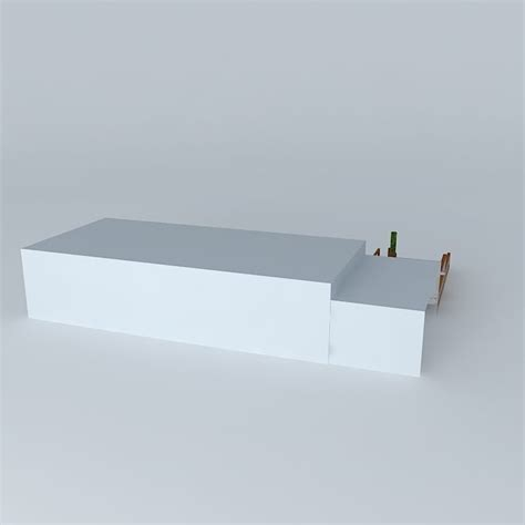 tub bench seat deck with hot tub pergola and seat bench free 3d model
