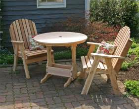 country patio furniture cedar country furniture bistro set cedar bistro set