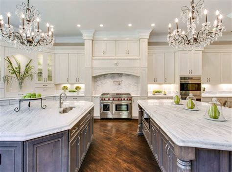 kitchen with 2 islands 23 stunning gourmet kitchen design ideas designing idea