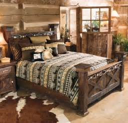 Lodge Bedroom Furniture Rustic Antler Barnwood Bed King Reclaimed Furniture