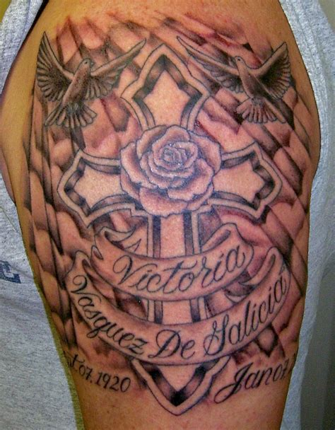 cross memorial tattoo memorial tattoos designs ideas and meaning tattoos for you