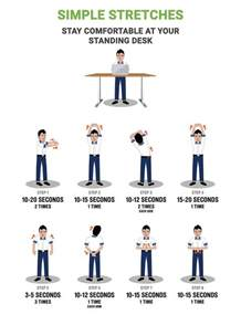 Create A Standing Desk Standing Desk Simple Stretches Multitable