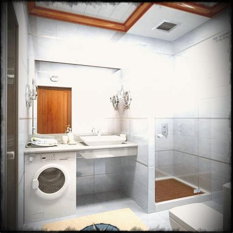 bathroom laundry ideas small bathroom remodel with white wash machine also glass