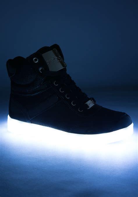 light up high tops bebe krysten high top sneakers in black lyst