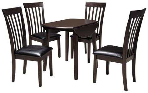 round dining room sets with leaf signature design by ashley hammis 5 piece round drop leaf