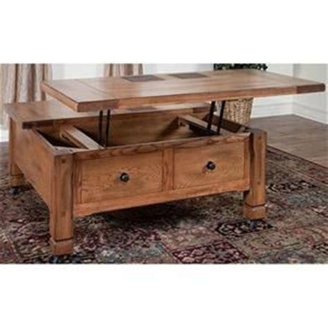 sedona coffee table  lift top  rustic oak nebraska