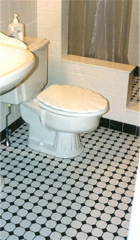 octagonal tile flooring bathroom nc212816 white octagon with heritage green dot mosaic