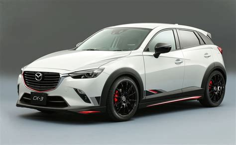 mazda cx3 2015 mazda cx 3 racing concept revealed practical motoring