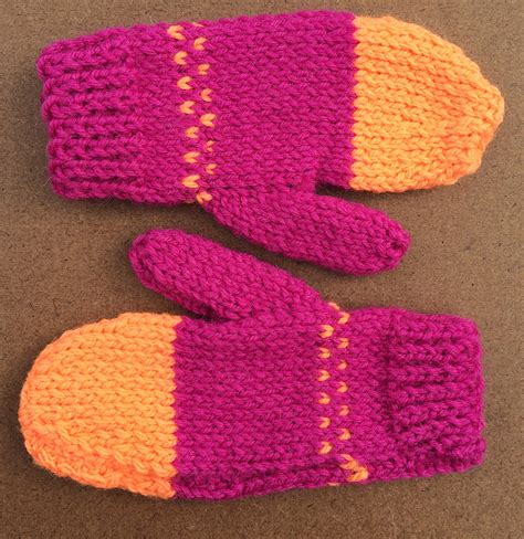 Handmade Wool Mittens - handmade mittens childrens wool acrylic blend felt