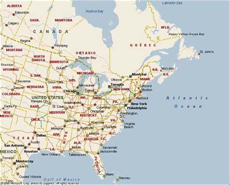 america map east map of eastern america images