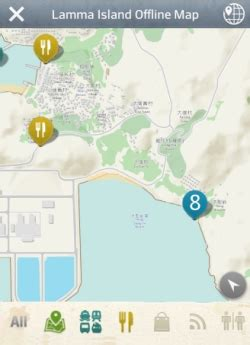 mobile app features offline map  save  data roaming charges  tourists